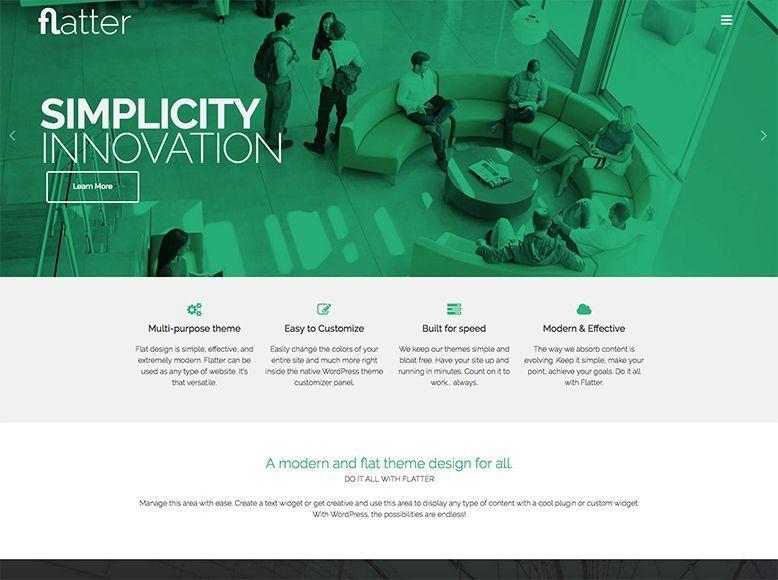 Flatter - Tema WordPress gratuito para sitios web de empresas y agencias