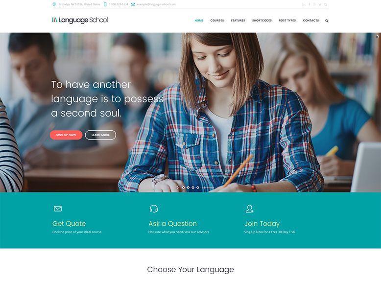 Language School - Tema WordPress para cursos de formación online