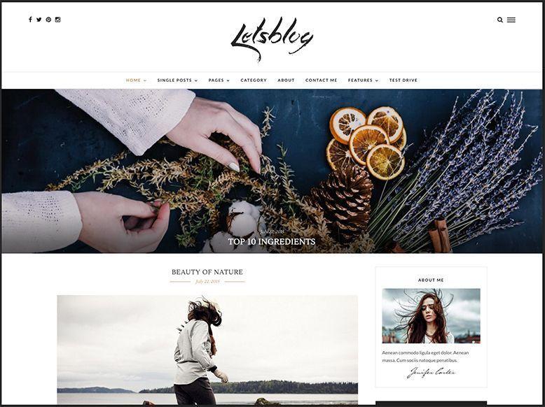 Lets Blog - Plantilla WordPress para blogs personales y revistas