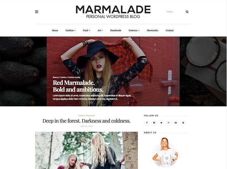 The Marmalade - Tema WordPress para blogs de moda y estilo de vida