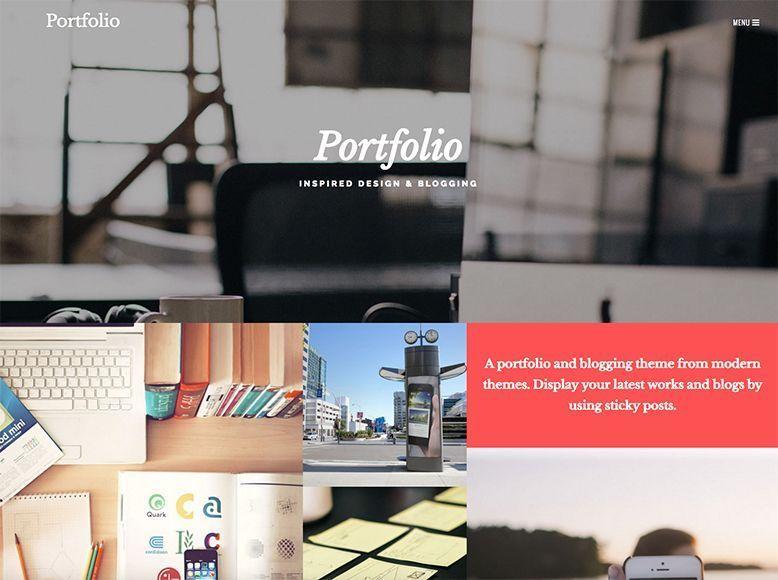 Portfolio - Plantilla WordPress gratis para portafolios de empresa