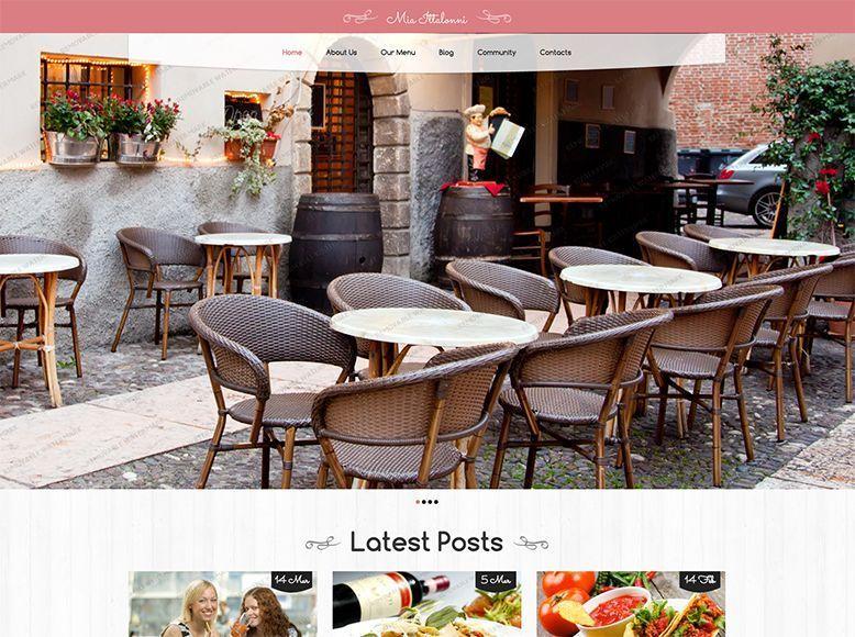Restaurant - Plantilla WordPress gratis para restaurantes, cafés y gastrobares