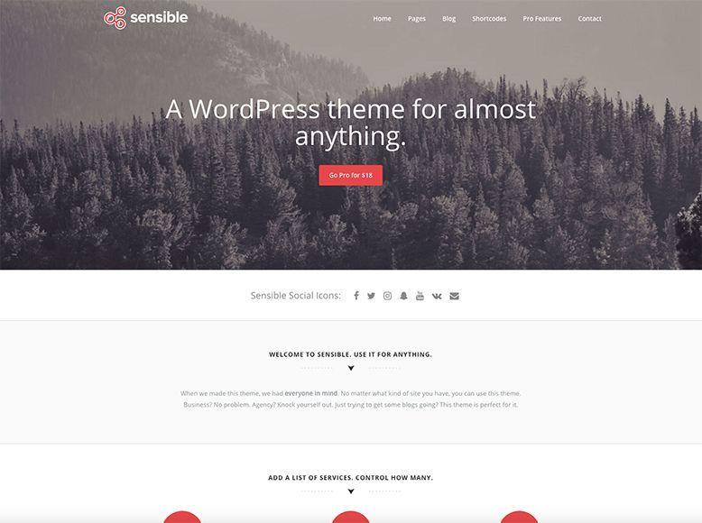 Sensible - Tema WordPress gratuito para todo tipo de empresas
