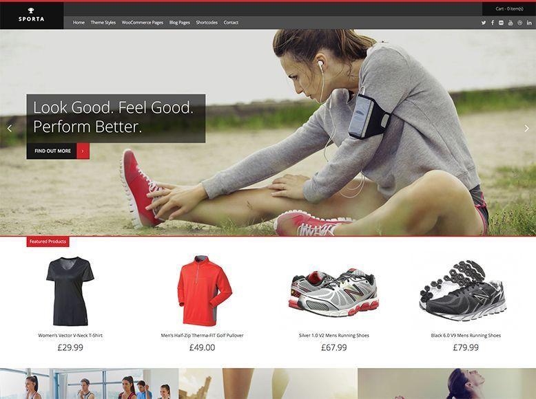 Sporta - Tema WordPress gratis para tiendas online WooCommerce