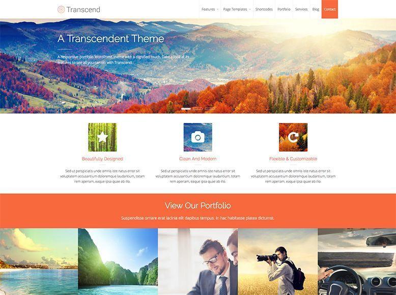 Transcend - Tema WordPress para portafolios de empresas