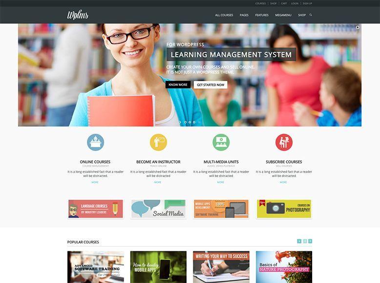 WPLMS - Plantilla WordPress para cursos de formación online