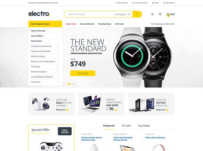 Electro - Plantilla WordPress para comercio electrónico con WooCommerce