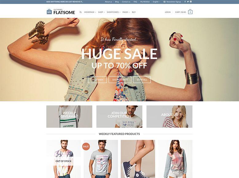 Flatsome - Plantilla WordPress para tiendas online de moda y ropa