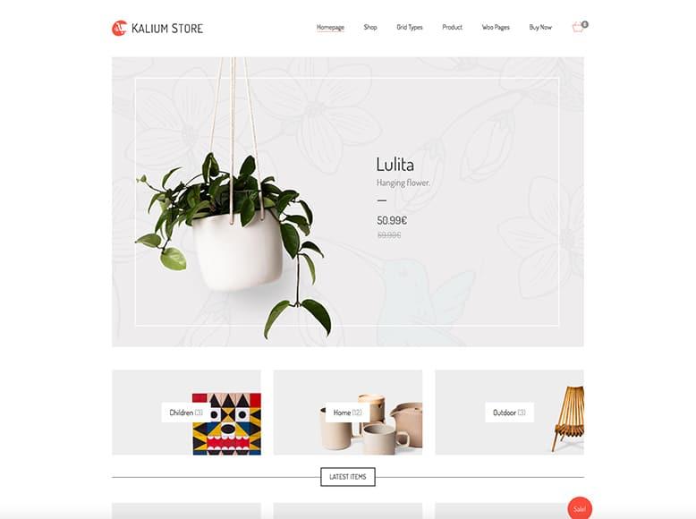 Kalium - WordPress para tiendas online con WooCommerce
