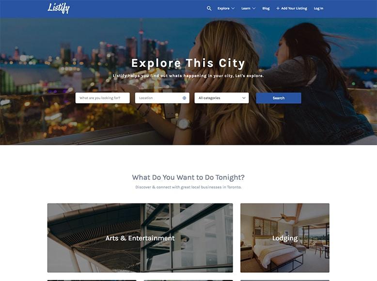 Listify - Plantilla WordPress para directorios de lugares interesantes