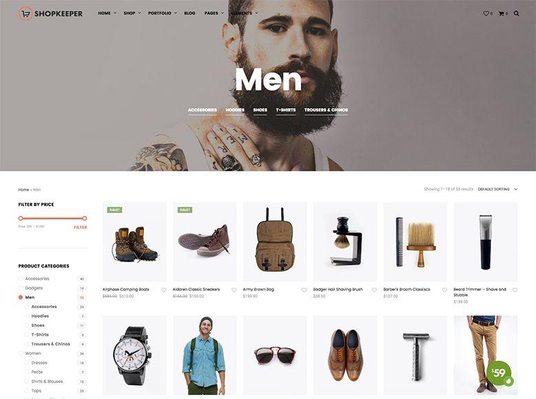 ShopKeeper - Plantilla WordPress para tiendas online WooCommerce