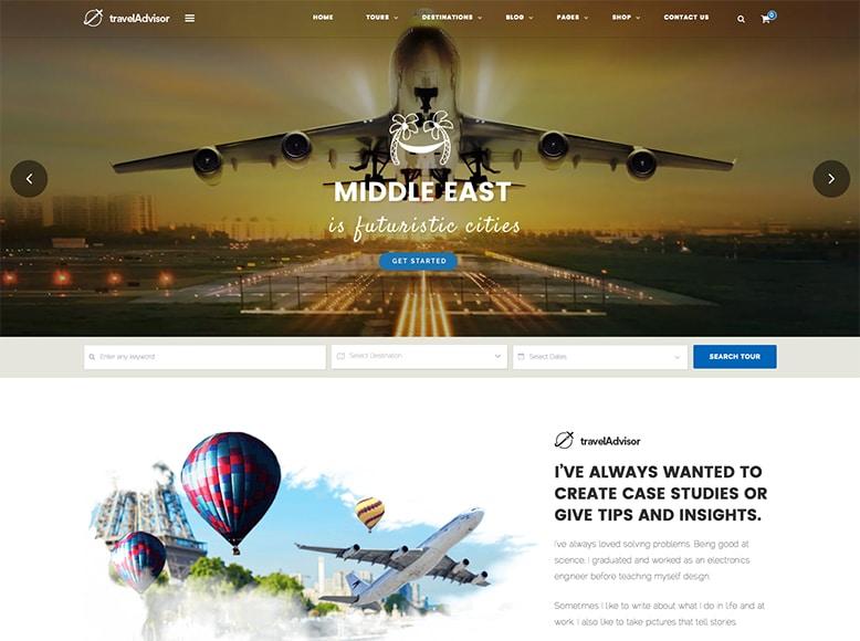 Travel Advisor - Tema WordPress para agencias de viajes y tours