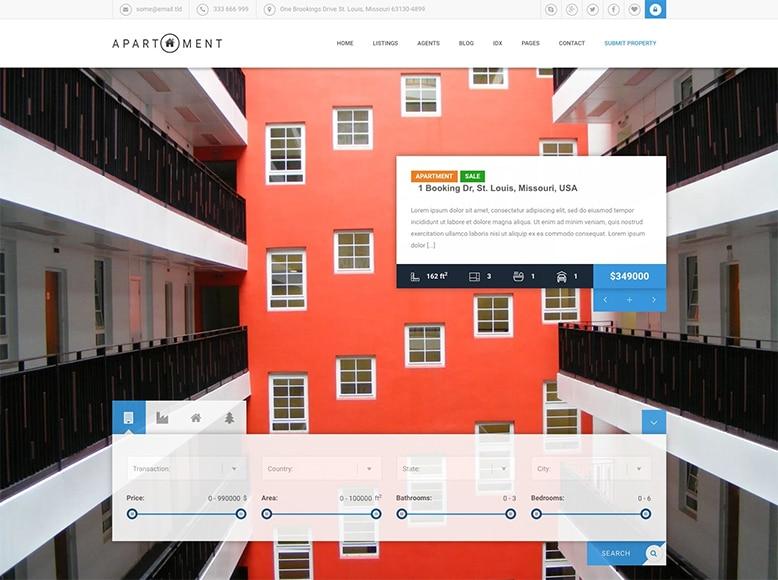 Apartment WP - Plantilla WordPress para venta o alquiler de viviendas e inmuebles