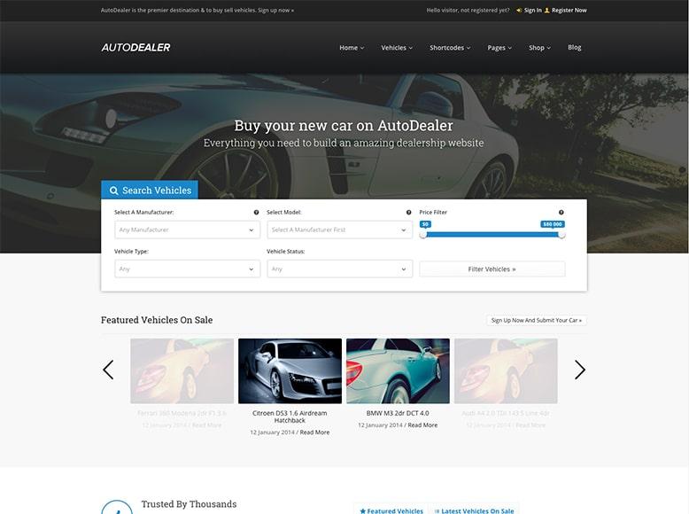 AutoDealer - Plantilla WordPress para concesionarios de coches