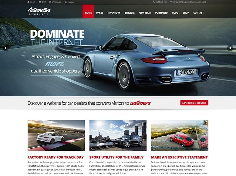 Automotive Car Dealership - Plantilla WordPress para concesionarios de vehículos