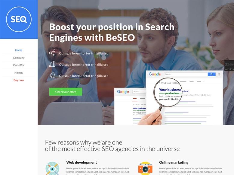 Be Theme - Plantilla WordPress para agencias de Posicionamiento en Buscadores y Marketing Online