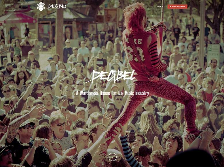 Decibel - Plantilla WordPress para músicos, bandas y DJs