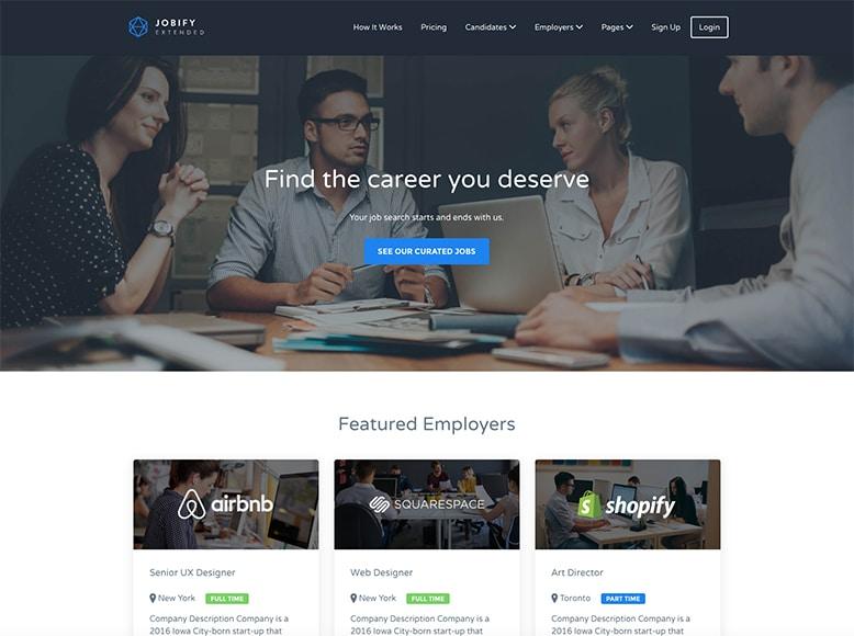 Jobify - Plantilla WordPress para directorios de búsquedas de empleo