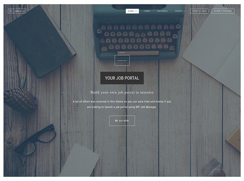 JobsDojo - Plantilla para directorios laborales con WordPress