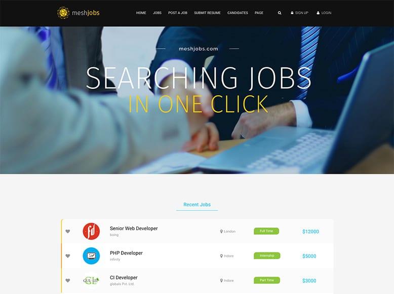 MeshJobs - Plantilla para portales de ofertas de trabajo con WordPress