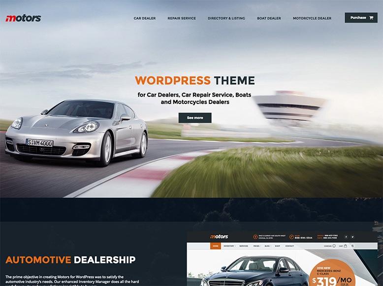 Motors - Plantilla WordPress para sitios web de concesionarios de automóviles