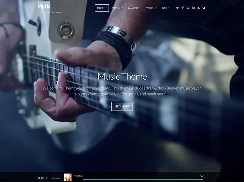 Music - Plantilla WordPress para grupos musicales, músicos y sellos discográficos