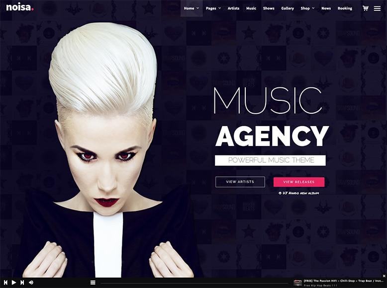 Noisa - Plantilla WordPress para músicos, bandas de música y DJs