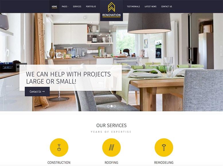 Renovation - Plantilla WordPress para empresas de reformas, construcción, albañilería, fontanería, electricidad
