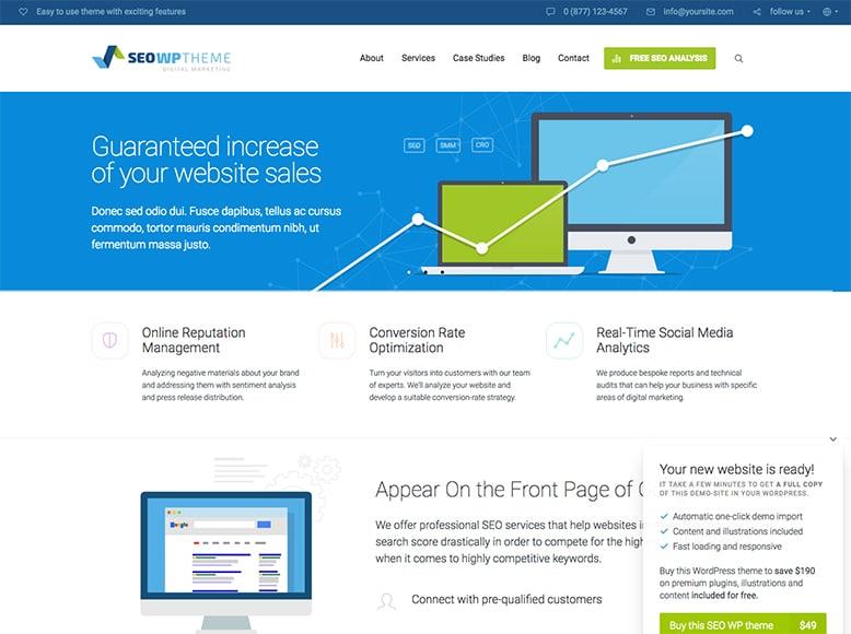 SEO WP - Plantilla WordPress para la promoción de Agencias de Marketing Digital y SEO