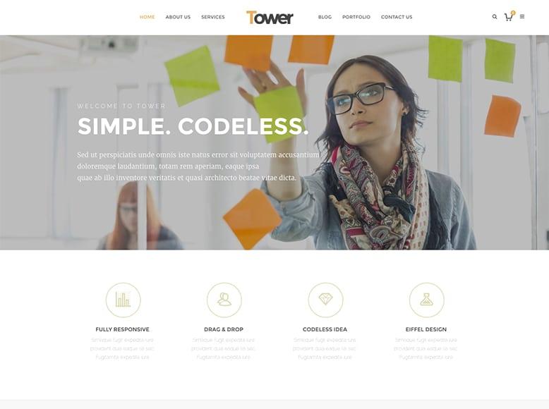 Tower - Plantilla WordPress para agencias de Marketing Digital y SEO