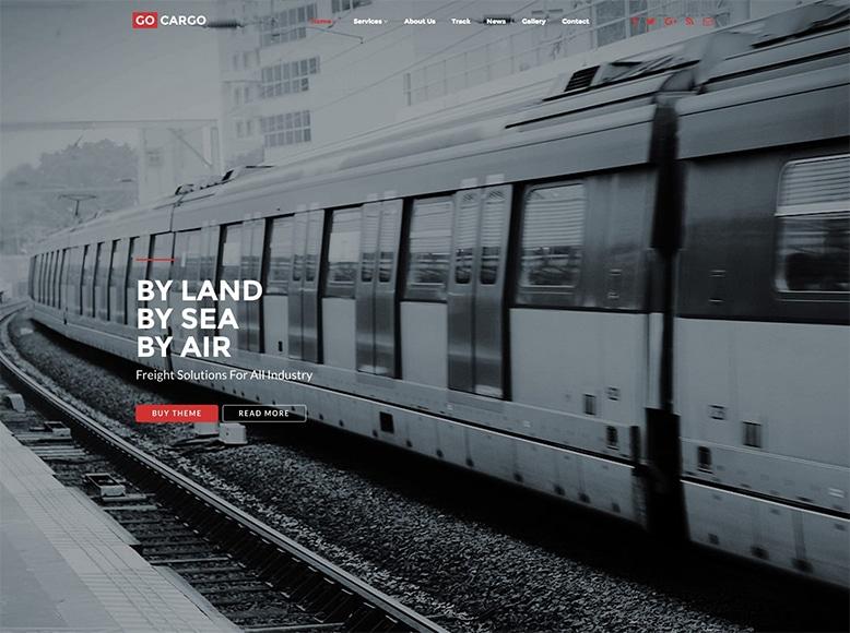 GoCargo - Plantilla WordPress para empresas de logística, transporte por carretera, aéreo y marítimo