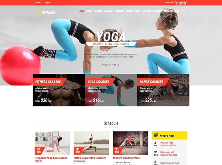 Gym & Fit - Plantilla WordPress para escuelas de baile, estudios de danza y ballet
