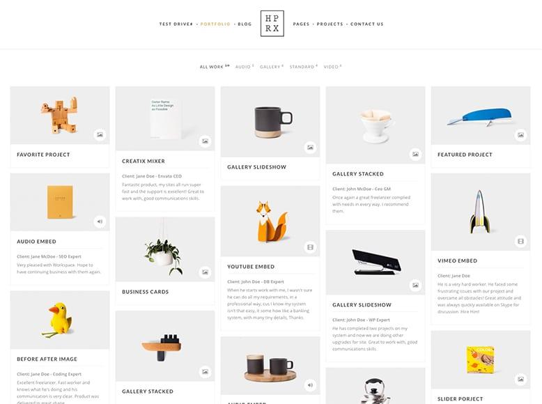 HyperX - Plantilla WordPress portafolios de fotografía, artistas, creativos, escultores y pintores
