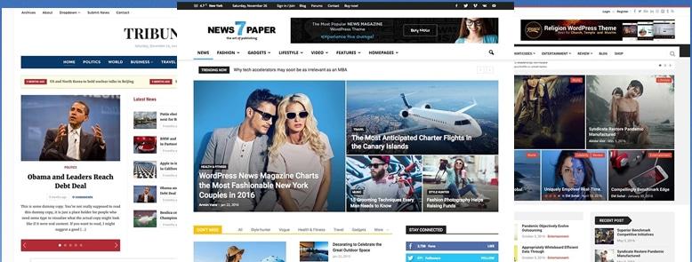 20+ Mejores Temas WordPress para Periódicos Digitales y Portales de Noticias 2017
