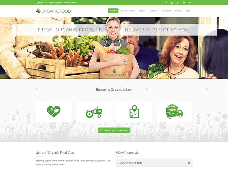 Organic Food - Plantilla WordPress para blogs de comida orgánica y ecológica