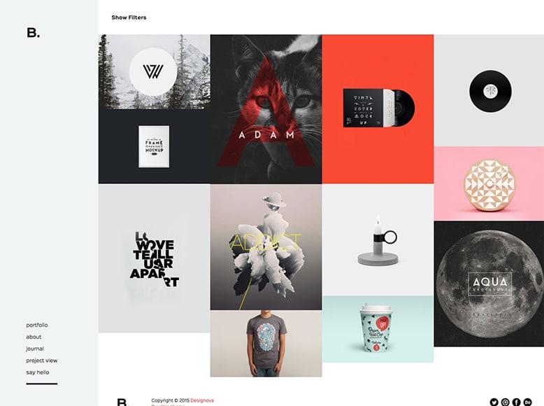 Signature - Plantilla WordPress para portafolios creativos de freelances, fotógrafos, agencias