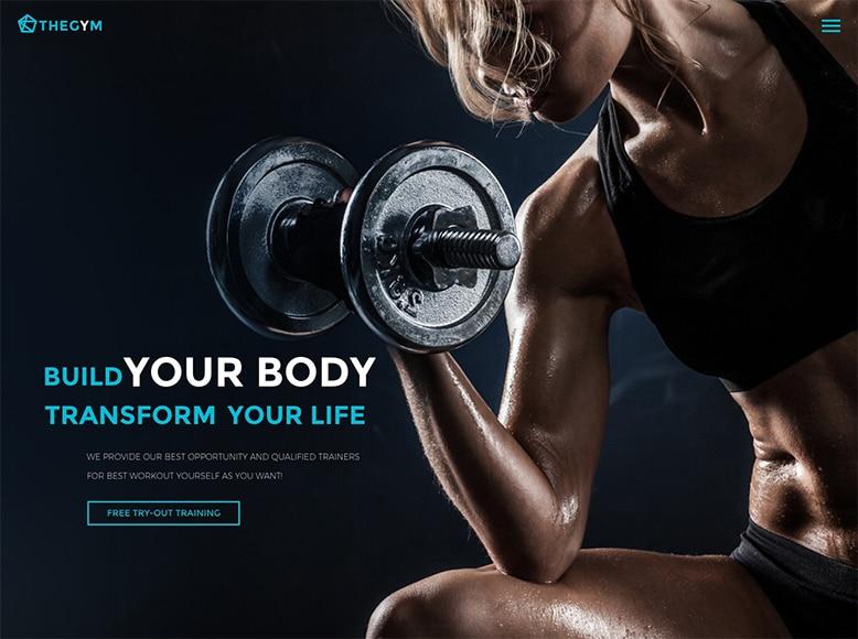 TheGem - Plantilla WordPress moderna para gimnasios y salas de fitness