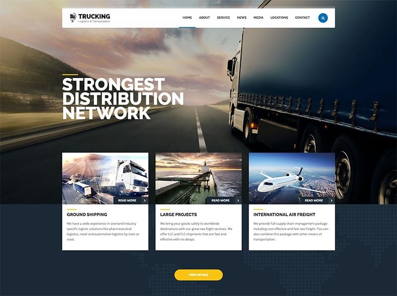 Trucking - Plantilla WordPress para empresas de transporte de mercancías y logísticas
