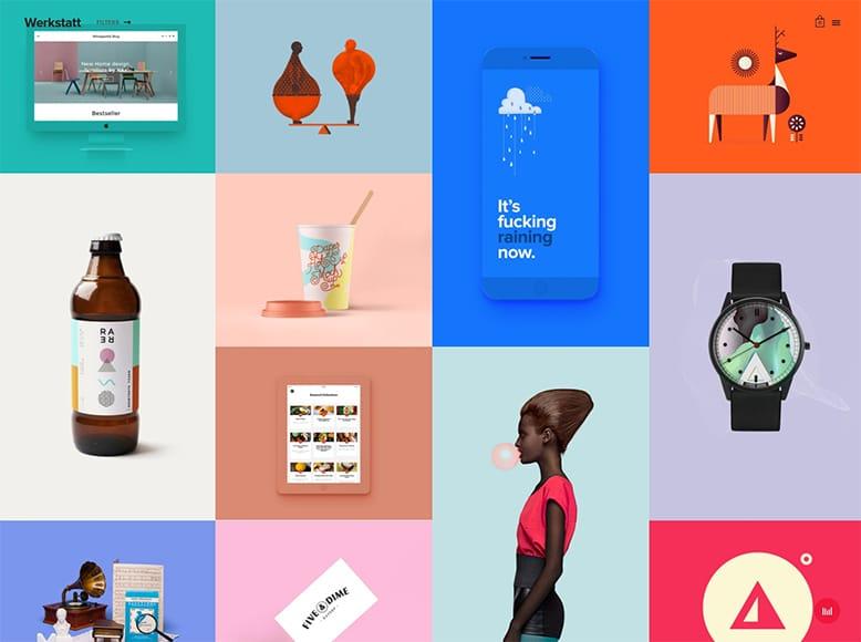 Werkstatt - Plantilla WordPress portafolios online de empresas creativas, diseñadores gráficos, artistas