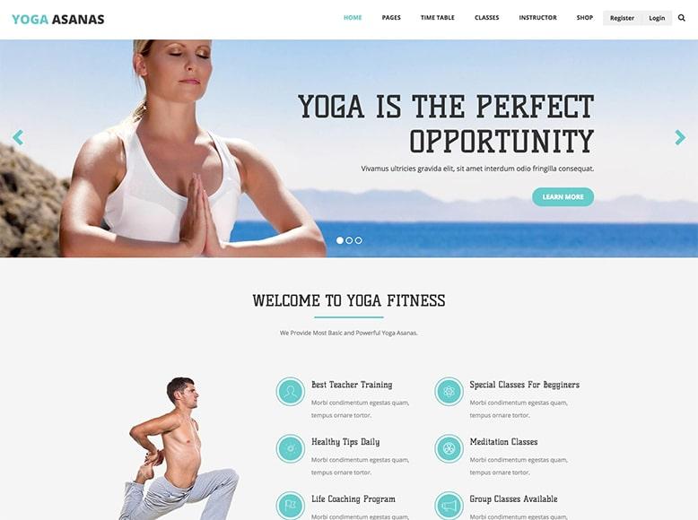 Yoga - Plantilla WordPress moderna para sitios web para yoga y meditación