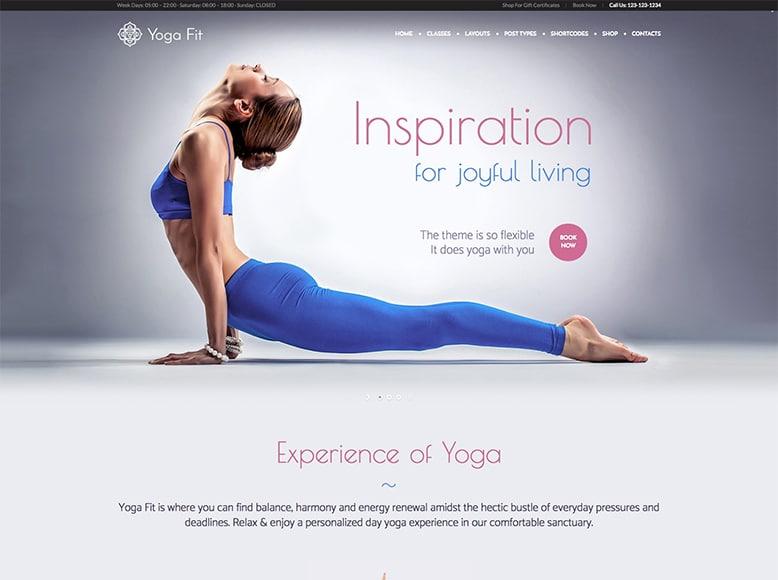 Yoga Fit - Tema WordPress para estudios de danza, clases de bailes de salón, bailes latinos, tango