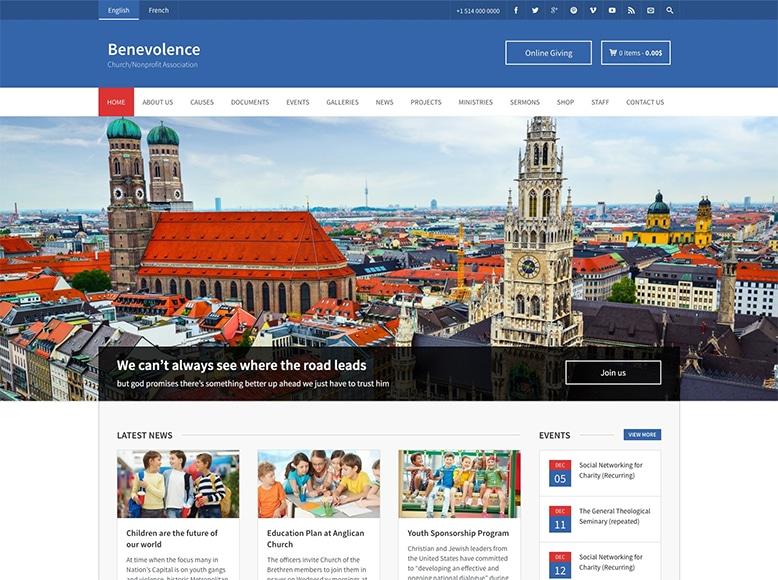 Benevolence - Plantilla WordPress para iglesias y organizaciones religiosas