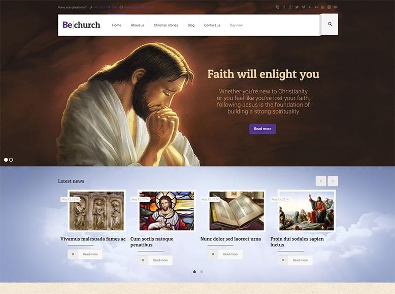 BeTheme - Plantilla WordPress para iglesias, organizaciones religiosas, parroquias, templos