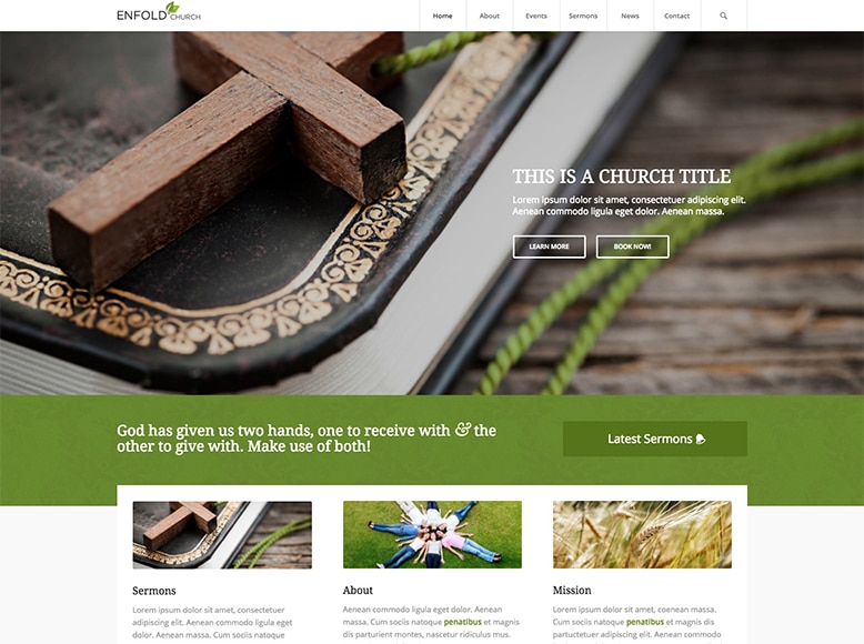 Enfold - Plantilla WordPress para iglesias modernas y contemporáneas