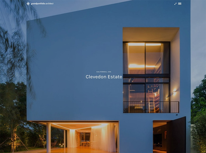 Grand Portfolio - Plantilla WordPress para portafolios modernos de despachos de arquitectos