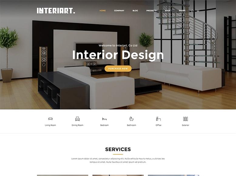 InteriArt - Plantilla WordPress para estudios de arquitectura y diseño de interiores
