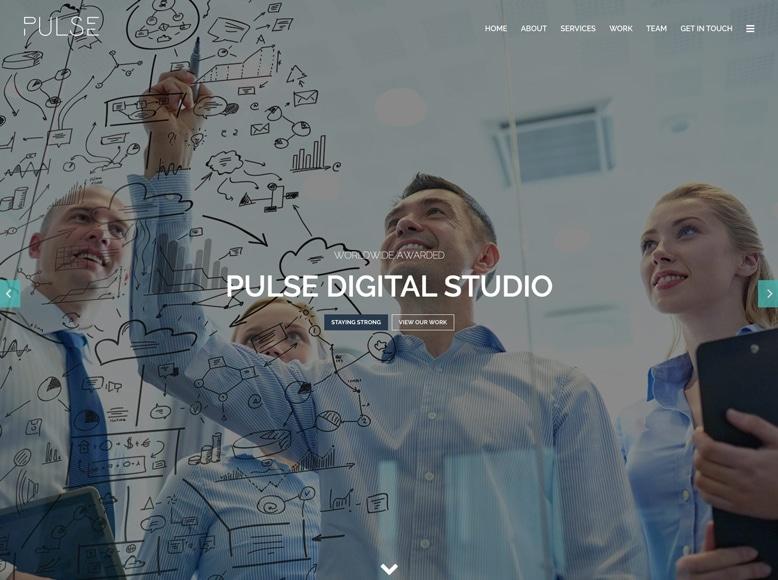 Pulse - Tema WordPress moderno para sitios web de una sola página y portafolios de agencias