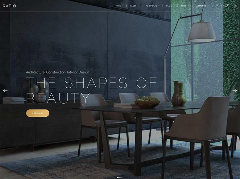 Ratio - Plantilla WordPress para portafolios de decoradores y agencias de diseño de interiores