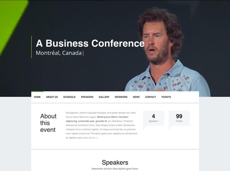 Event - Plantilla WordPress para conferencias, eventos y reuniones