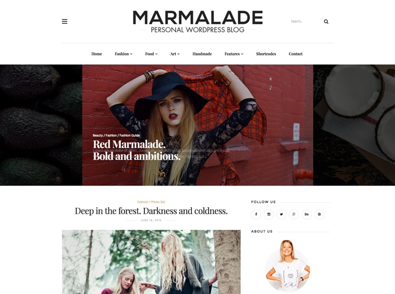 The Marmalade - Tema WordPress para blogs personales de moda, tendencias y estilo de vida